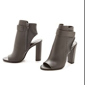 Vince Brigham Leather Open Toe Ankle Booties 9